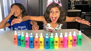 3 COLORS OF GLUE SLIME CHALLENGE!! with surprise color