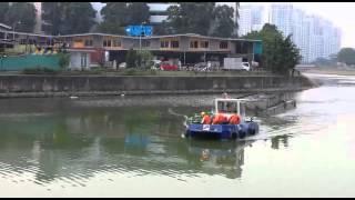 Catamaran work boat operating in Singapore