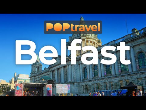 Walking in BELFAST / Northern Ireland (UK) - 4K 60fps (UHD)