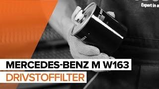 Hvordan bytte Drivstoffilter MERCEDES-BENZ M-CLASS (W163) - online gratis video
