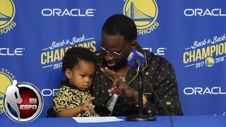 Draymond Green and his son make a splash after Warriors' season-opening win | NBA Sound