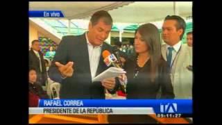 Rafael Correa opina sobre debate entre Rodas y Barrera