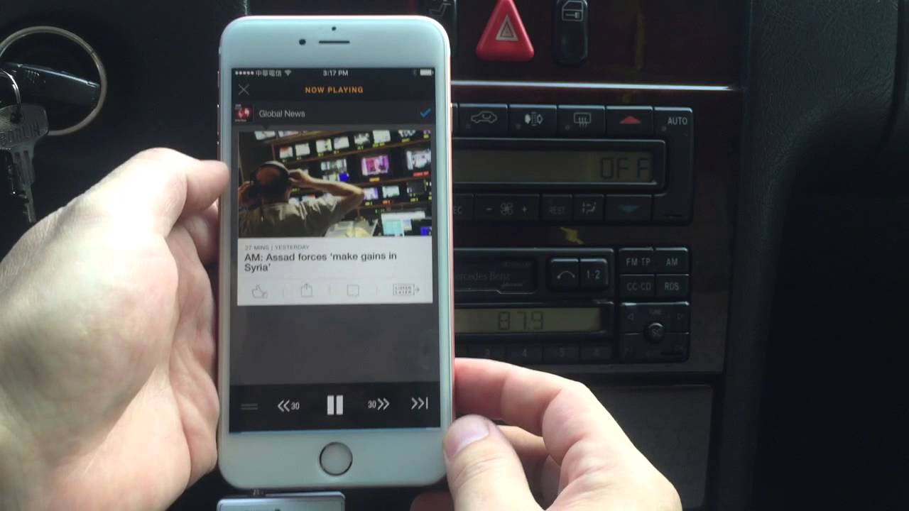 hook up iphone to car speakers