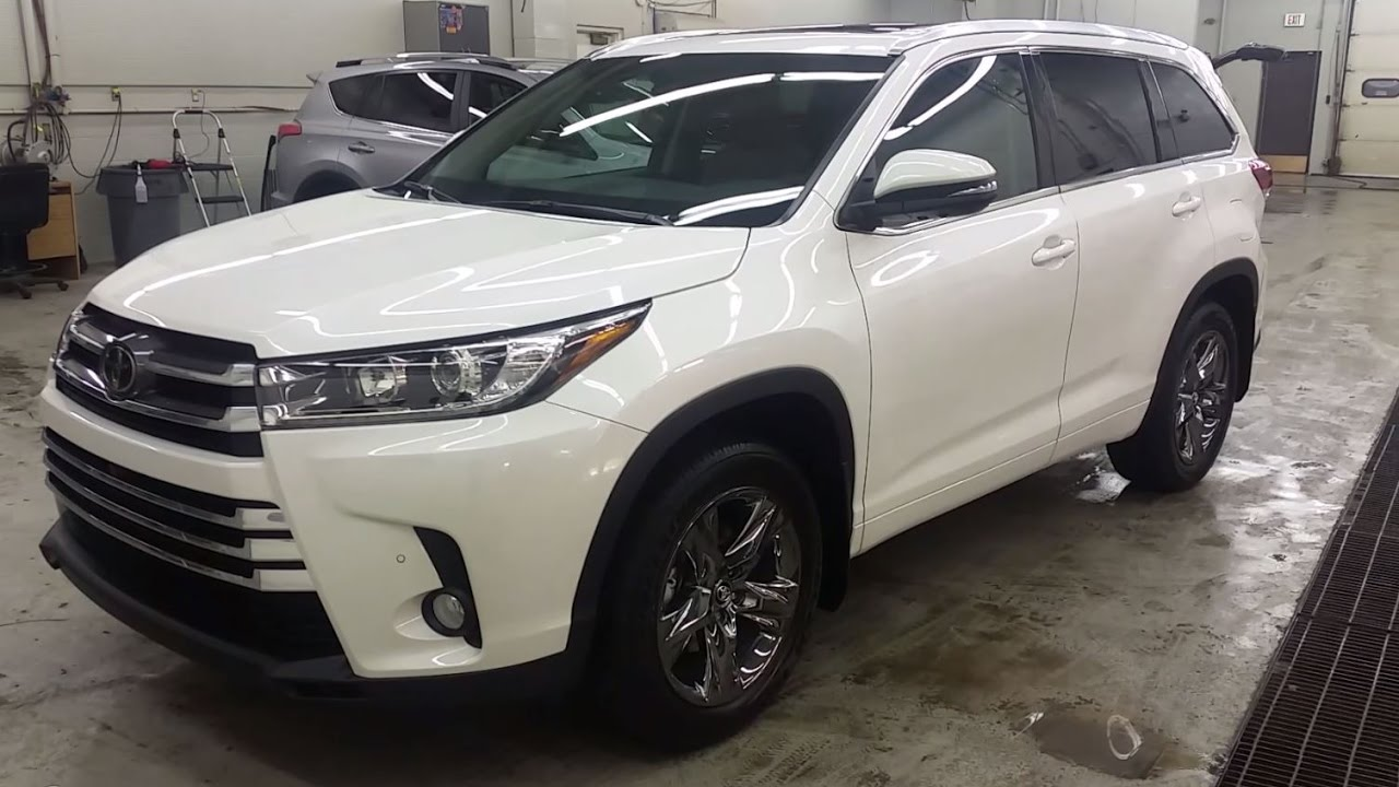 2017 Toyota Highlander Limited Awd In Blizzard Pearl With The Brown Interior Review Of Features You