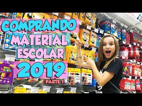 COMPRANDO MEU MATERIAL ESCOLAR 2019 Pt1