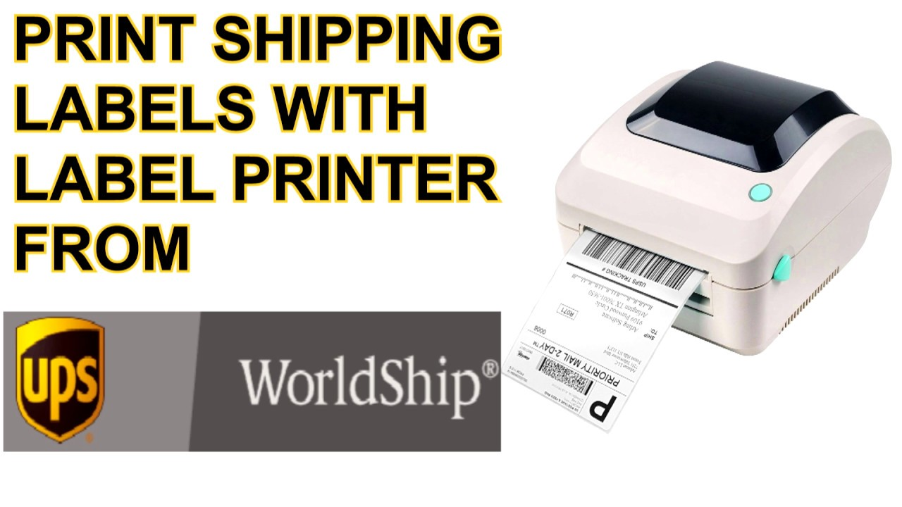 How to Print Shipping labels from UPS Worldship Desktop Software on Windows  Tutorial UPDATED 2019