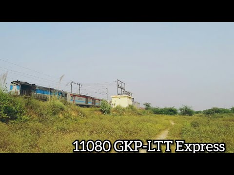 Shining Red LHB Train- GKP- LT(T) Express with Non- Uniform Antyodaya coach and Duronto EOG!!