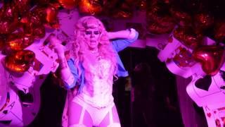Trixie Mattel performing Gwen Stefani at Drag Carnage: Wonderland edition on 3/14/14