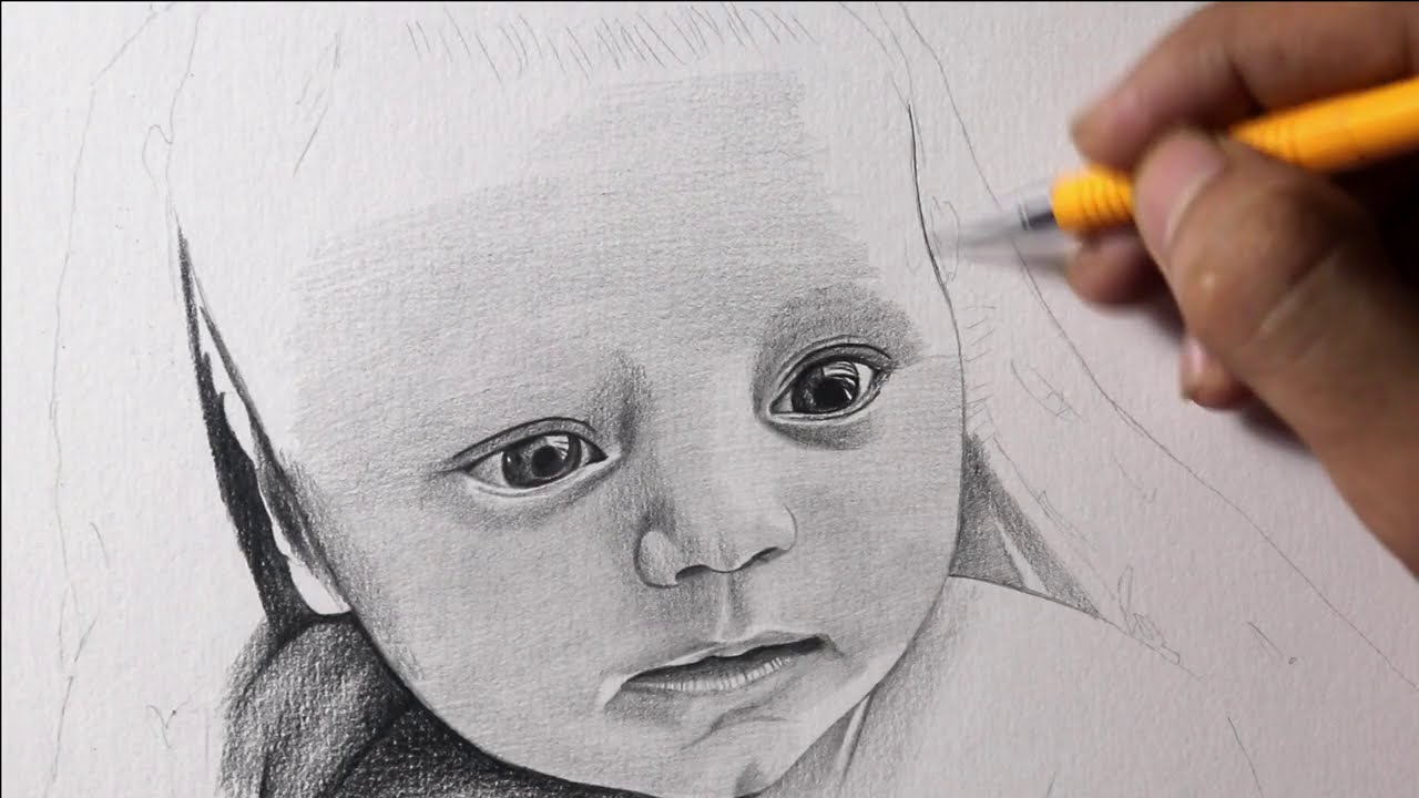 Drawing Cute Baby | Timelapse