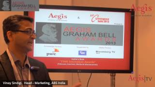Mr. Vinay Sindigi | Head - Marketing | ABS India at 1st Jury Round of Aegis Graham Bell Awards 2013