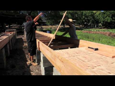 Aquaponic Grow Bed Construction Youtube