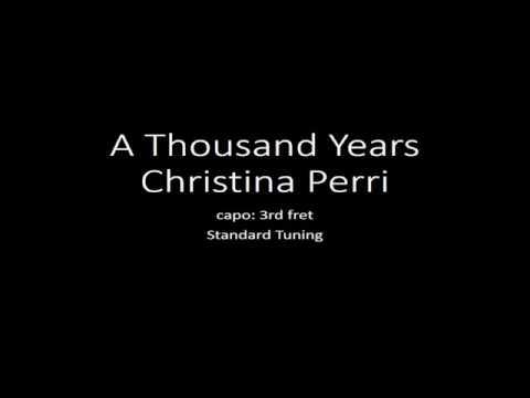 Kunci gitar dan lirik lagu Christina Perry