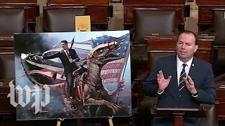 Velociraptors, giant seahorses and babies: GOP senator mocks Green New Deal