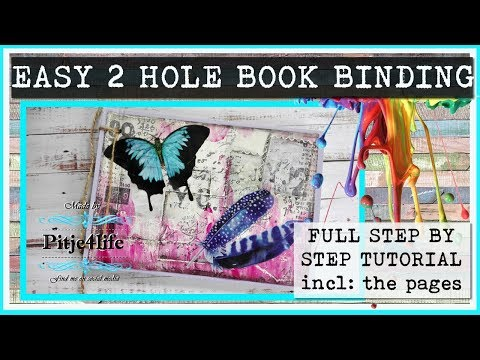 DIY low budget BOOK including the easy string book binding ~ FULL TUTORIAL