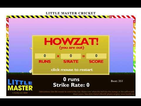 Little Master Cricket 1 Stumps Glitch