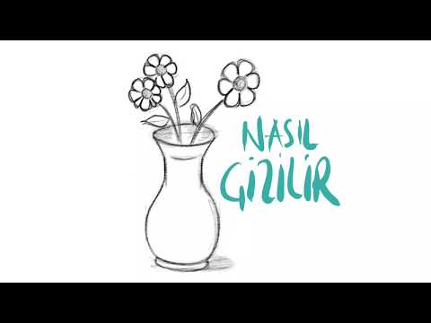Vazo Resmi Nasil Cizilir Vazoda Cicek Cizimi Flower Drawing