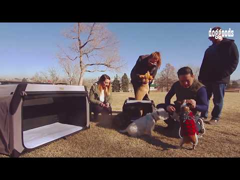 The Foldable Travel Kennel + Crate by DogGoods - High Quality Soft Dog Crate