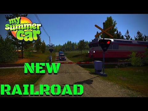 RAILROAD CROSSING LIGHTS AND BARRIERS - My Summer Car #107 (Mod)