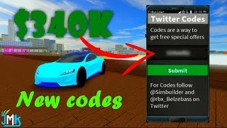 ROBLOX VEHICLE SIMULATOR MONEY CODES NEW 2018 ($340,001)