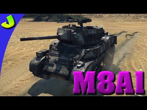 War Thunder- M8A1 Realistic Gameplay ( Mini Hellcat )