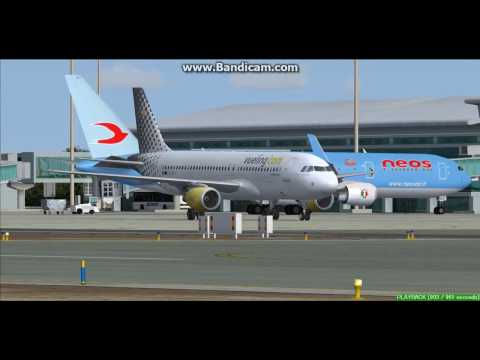 Vueling A320 Mahon Menorca Airport LEMH Landing FS9