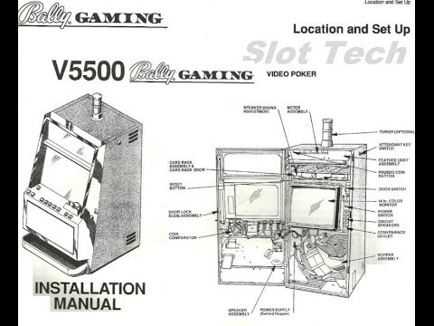 Bally Gaming V5500 installation and schematic slot tech manual