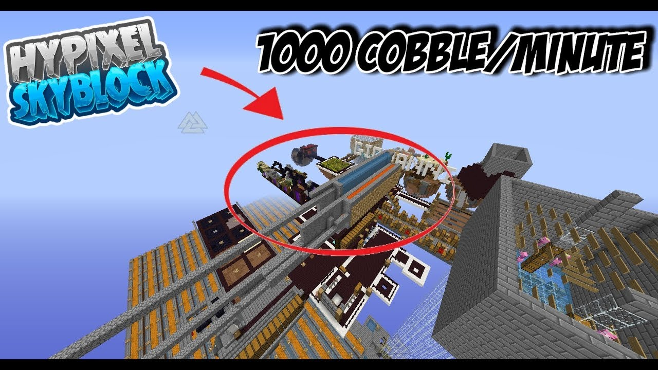 AFK Cobble Generator | Hypixel - Minecraft Server and Maps