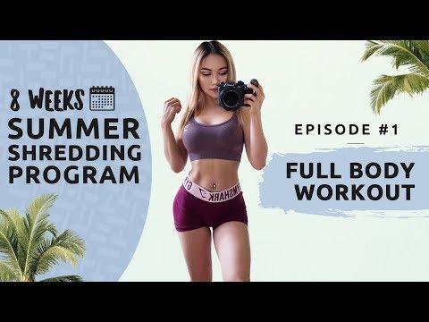 FULL BODY WORKOUT - Summer Shredding EPISODE #1 - 8 WEEKS FREE WORKOUT PROGRAM