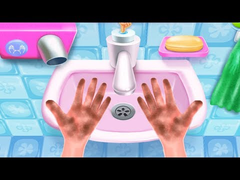 Fun Bath Time Kids Game - Bubble Party -  Kids Learn how to Wash Hands and Brush Teeth