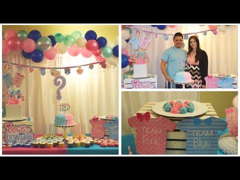 Como Hacer Arco De Globos Fácil Revelacion De Genero Como Decorar Mesa De Postres Para Baby Shower