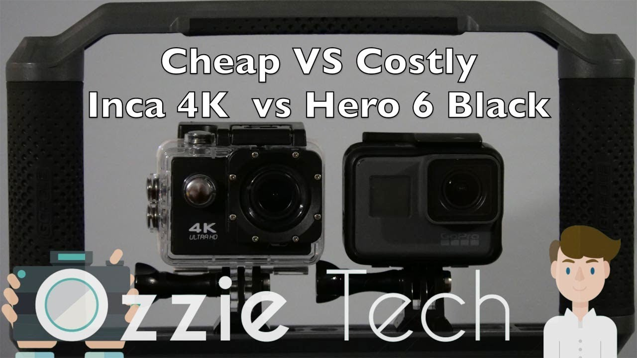 Cheap Vs Costly Action Camera 4k Test Inca Gopro Hero 6 Youtube Hd