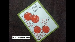 Special DIY Christmas greeting card for friend - simple and easy making idea
