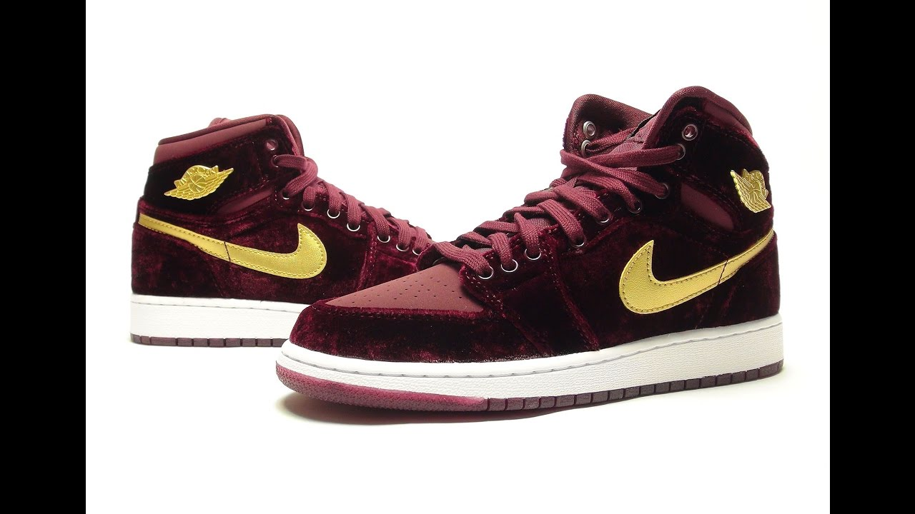 03018d775cb Air Jordan 1 Velvet Night Maroon Review + On Feet - YouTube