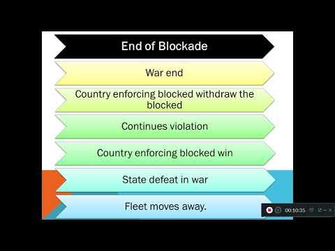 Blockade in international law