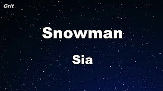 Video Snowman - Sia  Karaoke 【No Guide Melody】 Instrumental download MP3, 3GP, MP4, WEBM, AVI, FLV Juli 2018