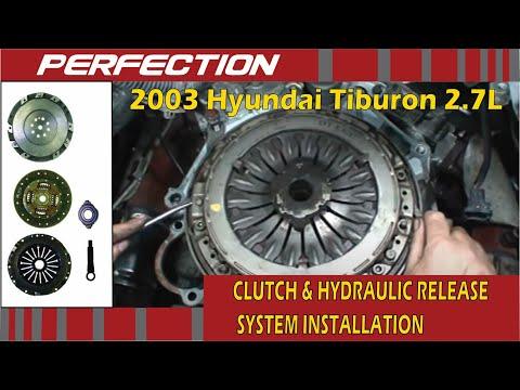 2003 Hyundai Tiburon GT 27L Clutch and Hydraulic Release System