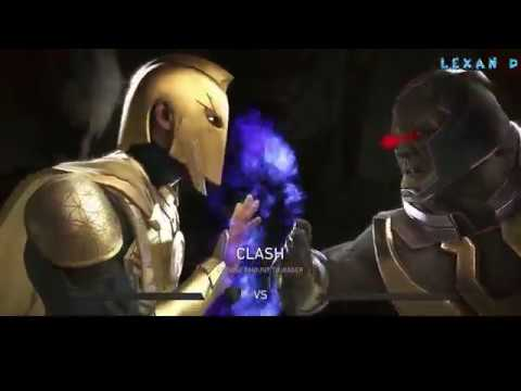 Injustice 2 - Доктор Фэйт против Дарксайда - Intros & Clashes (rus)