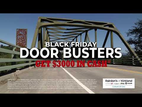 Black Friday Door Buster Deals | Rairdon's Chrysler Dodge Jeep Ram Of Kirkland
