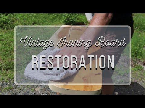 DIY Home Decor Apt.Series ~ Vintage Ironing Board Restoration