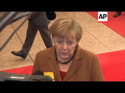 Leaders comment as they depart first day of Europe summit