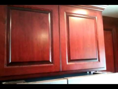 Center City Cabinets Cherry cabinets stained Varathene