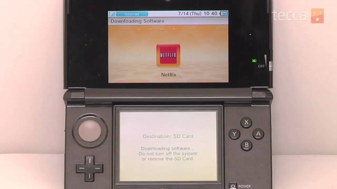 how to get netflix on 3ds