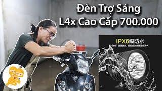 Review ĐÈN TRỢ SÁNG L4x đi được TỐC ĐỘ 80km/giờ tại Xe Ôm Shop