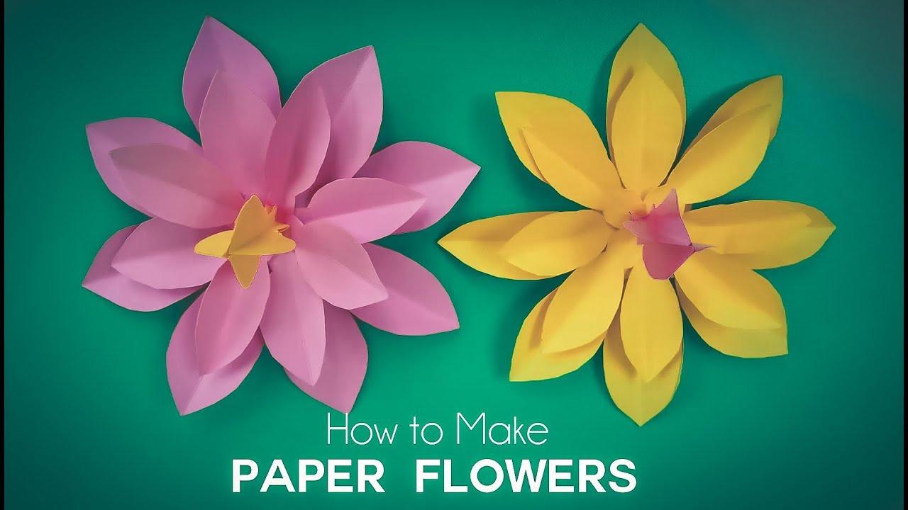 How To Make Paper Flowers Diy Easy Paper Flower Tutorial Beautiful