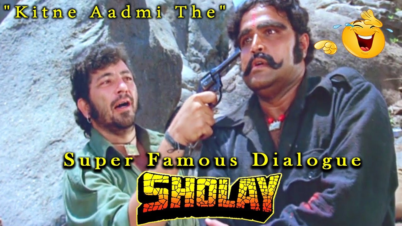 """Download """"Kitne Aadmi The"""" Super Famous Dialogue From Sholay Hindi Movie Scene"""