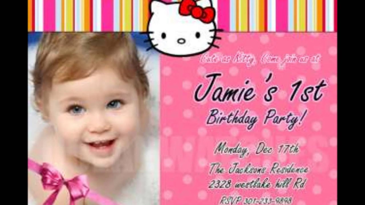 Making Personalized Birthday Party Invitations YouTube – Toddler Girl Birthday Invitations