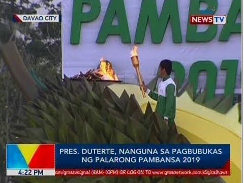 BP: Pres. Duterte, nanguna sa pagbubukas ng Palarong Pambansa 2019