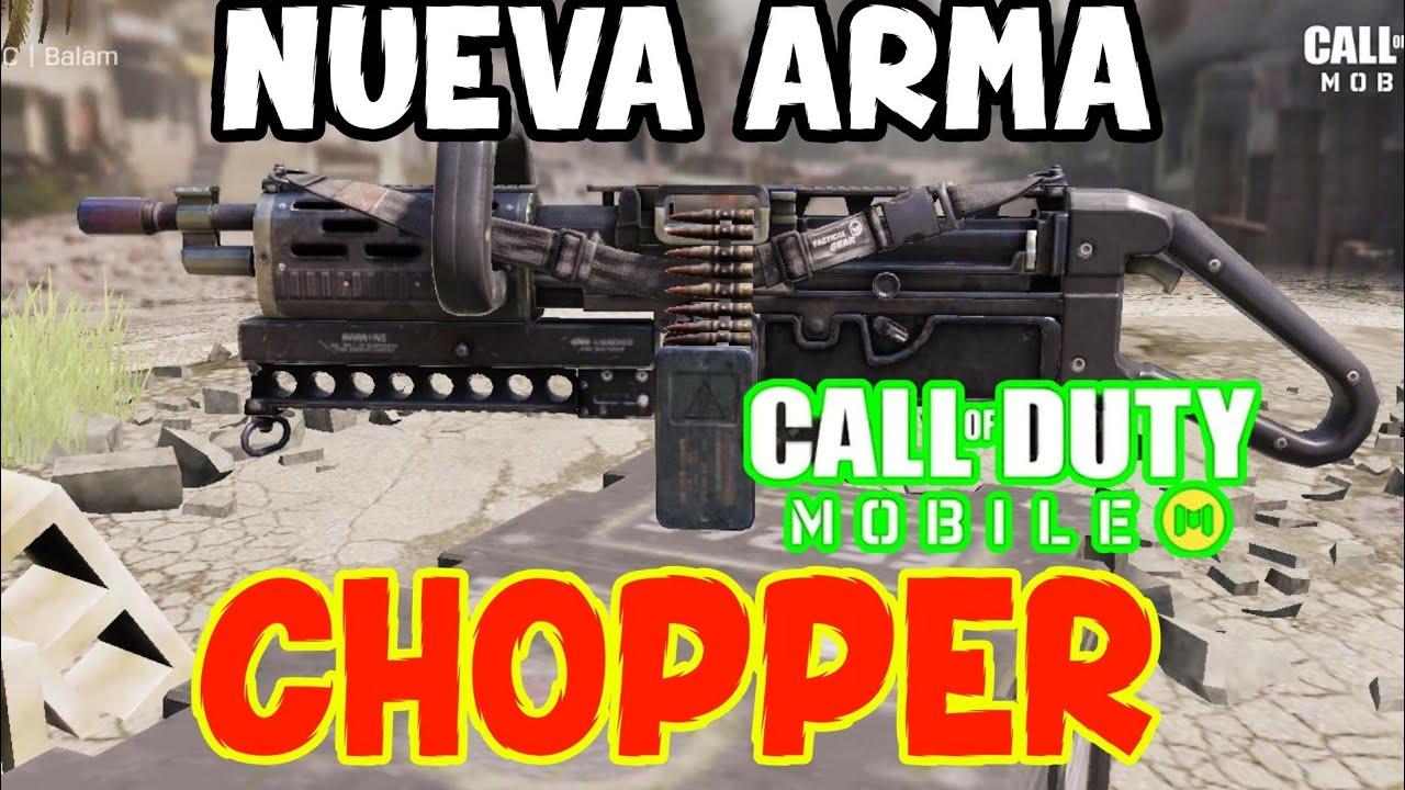 "NUEVA ARMA ""CHOPPER"" COD MOBILE"