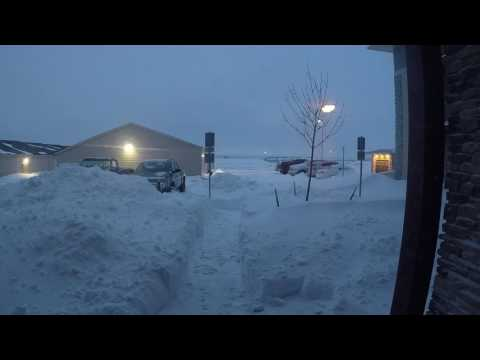 Snow drifts in Williston ND 12-26-16