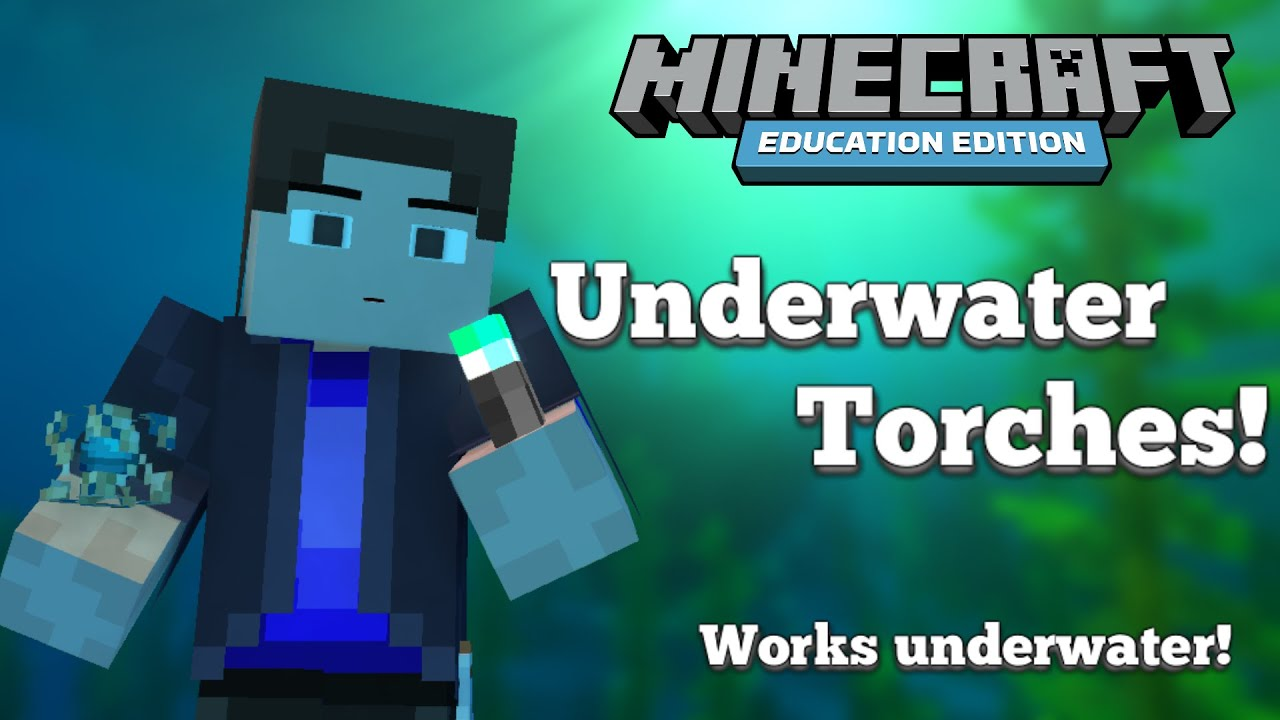 How To Make Underwater Torches Minecraft Education Edition Youtube